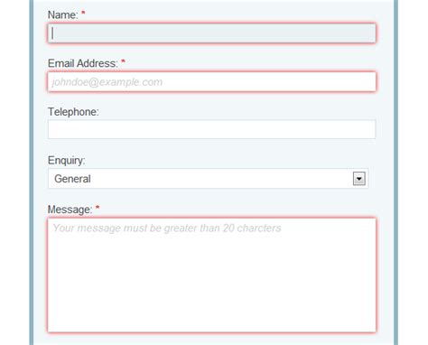 html input pattern ie build a neat html5 powered contact form