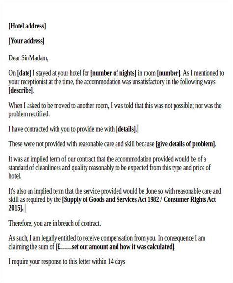 Complaint Letter Hotel complaint letter exle