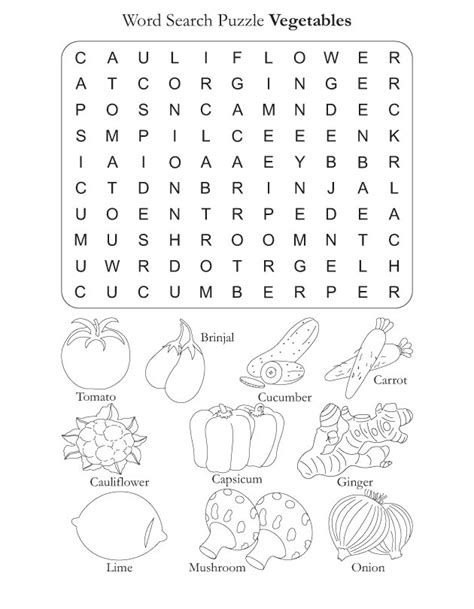 printable crossword puzzles vegetables word search puzzle vegetables download free word search