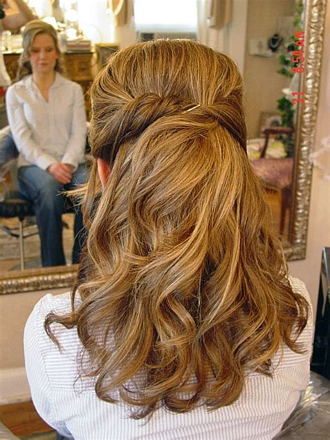 prom hairstyles for brunette hair half updo long brunette homecoming hairstyle homecoming