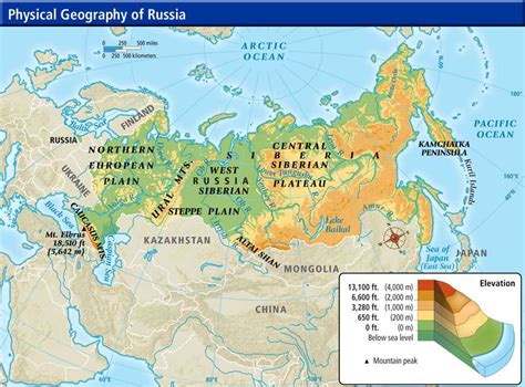 russia and europe physical map world cultures maps