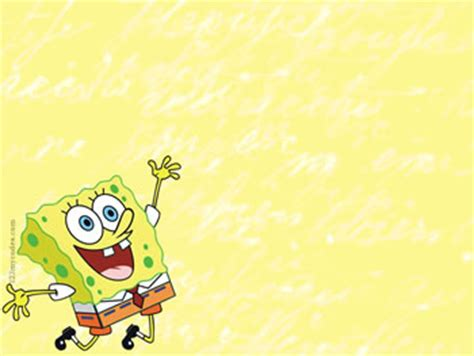 wallpaper spongebob biru background lucu power point terlengkap