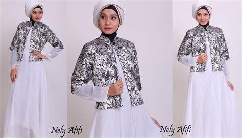 desain gamis kombinasi brokat desain baju gamis songket untuk pesta dengan kombinasi