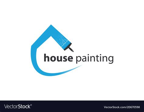 house painter logo house painting logo template royalty free vector image