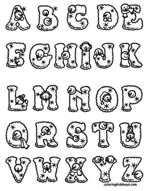 imagenes de letras animadas de navidad letras del abecedario con dibujos para colorear recursos
