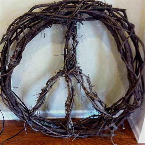 lighted peace sign wreath 20 best images about christmas on pinterest fishing line