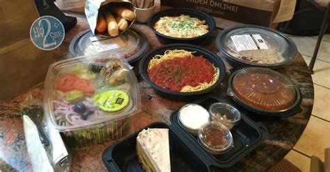 olive garden 7 dollar lunch wow 4 olive garden entrees 2 soups salads 4 breadsticks pumpkin cheesecake for 30