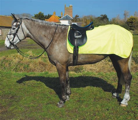 exercise rug rhinegold waterproof fluorescent yellow exercise rug fast tack direct