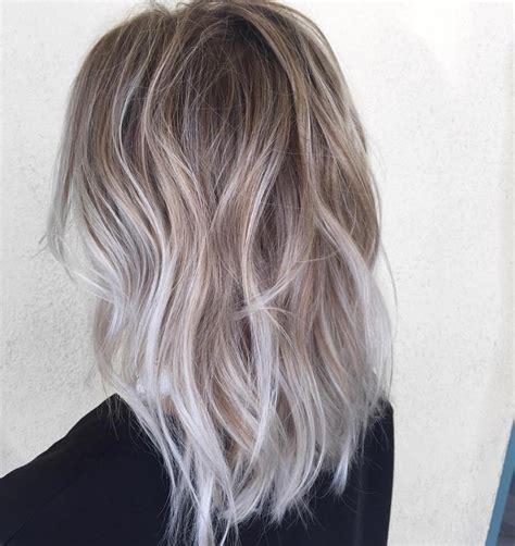 Platinum Sho Shoo Silver White Grey Ombre gorgeous glam vogeu v o g e u instagram hair tutorial follow me for more