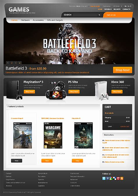 games themes download pc games for pc and ps prestashop theme 38937