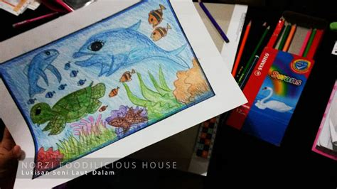 Lukisan Fanel 1 norzi foodilicious house hasil kerja lukisan laut dalam