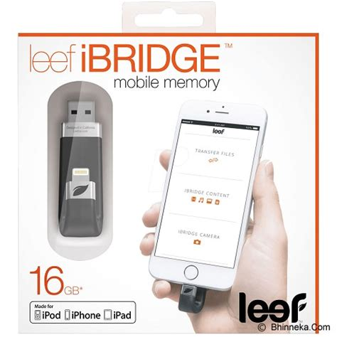 jual leef ibridge ios mobile storage 16gb black harga murah usb flash disk dual drive otg