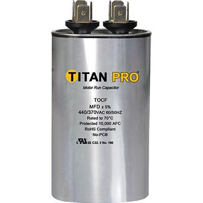 capacitor 10 mfd titan pro run capacitor 10 mfd 440 370 volt oval brookairebrookaire