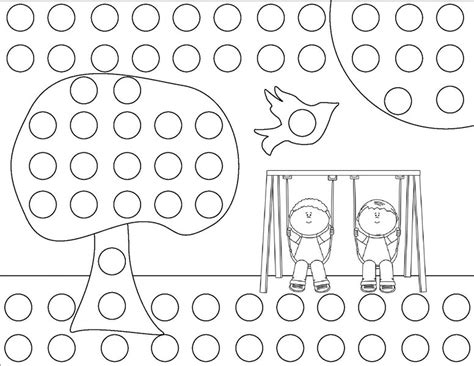 Bingo Dauber Coloring Pages Printable Coloring Pages Do A Dot Coloring Pages