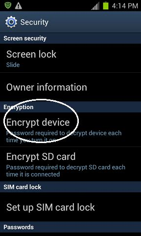 encrypt android what to do before you lose your android phone tablet