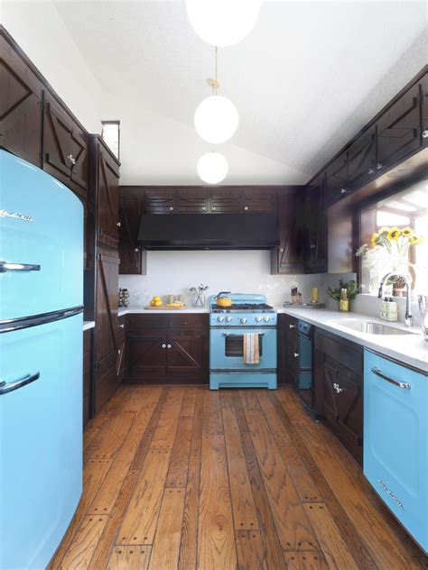 blue kitchen appliances photos hgtv