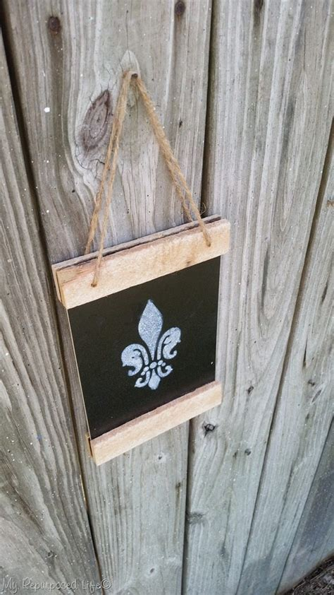 dollar store chalkboard easy project  repurposed life