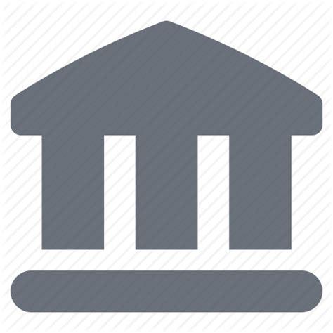 icon bank bank banking court economy finance money pika
