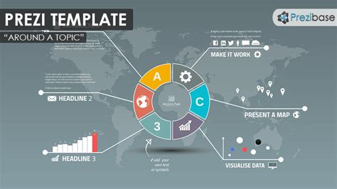 Around A Topic Prezi Template Prezibase Prezi Template Ideas
