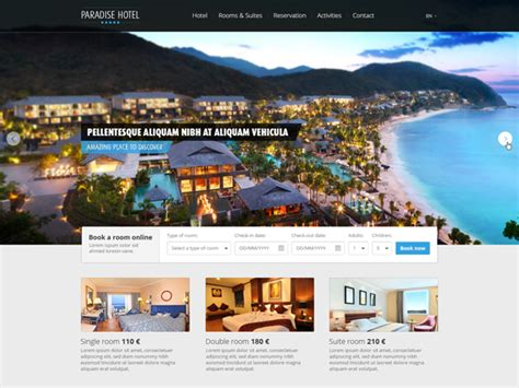 free hotel templates free hotel web template vekt 246 r grafiği 365psd