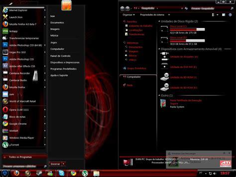 windows 7 themes black edition windows7 theme ati dark editio by xxxivan1618xxx on deviantart