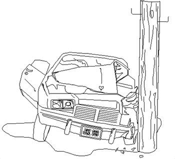 coloring page of car crash free crash clipart free clipart graphics images and