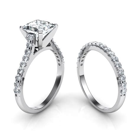 braut ringe tall cathedral engagement ring wedding band bridal set