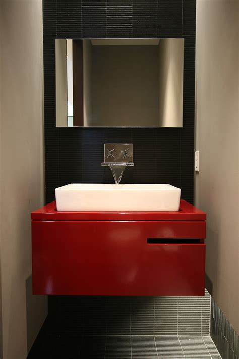 dark red bathroom red and black bathroom bathroom ideas