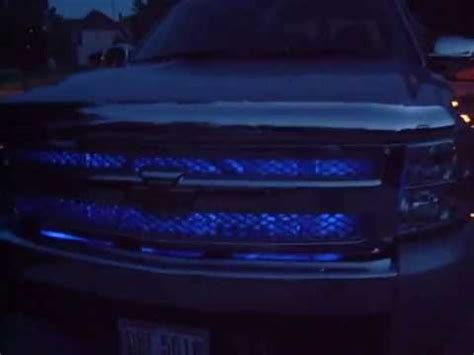 Interior Led Lightbar Pimped Out Chevy Silverado Blue Leds Ghost Projector