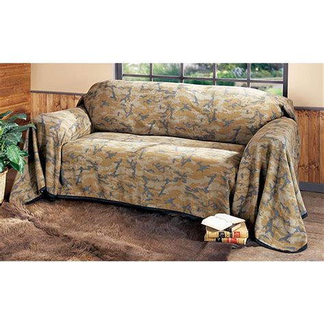 Camo Futon Covers by Camouflage Furniture Throw 106437 Furniture Covers At Sportsman S Guide