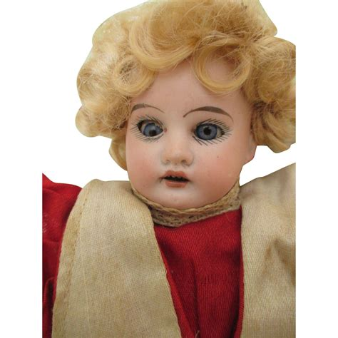 bisque doll leather antique bisque shoulder doll on kid leather from