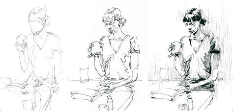 sketching people an urban coffee sketch 01