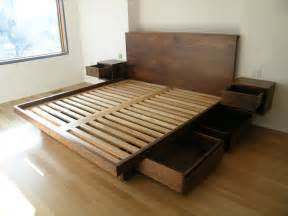 Platform Bed With Storage Underneath Plans Useful King Size Platform Bed Frame With Storage All And
