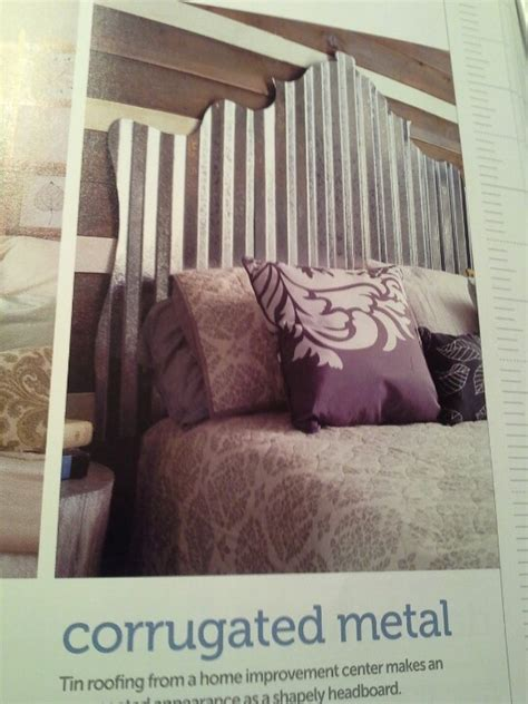 corrugated tin headboard pin by lff designs on bedrooms where the magic happens