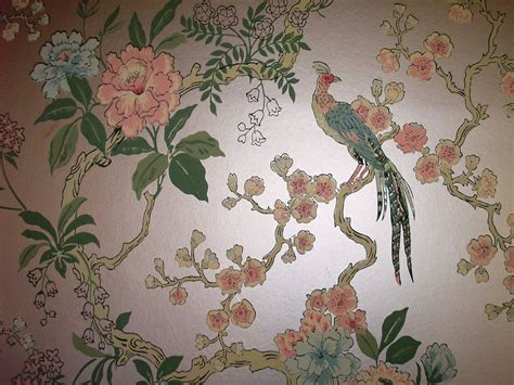 wallpaper design vintage dining room pheasant vintage wallpaper retro renovation