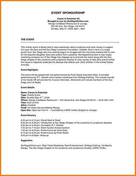 sponsorship letter for event sample inspirationa sponsorship letter