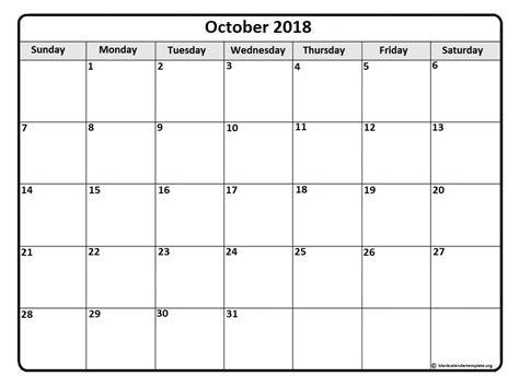 printable calendar 2018 october october 2018 calendar october 2018 calendar printable