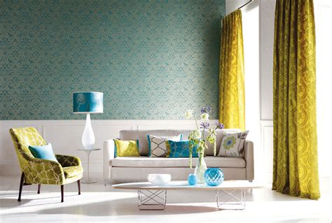 Decor Damask Living Room Charming And Fantastic Beauty