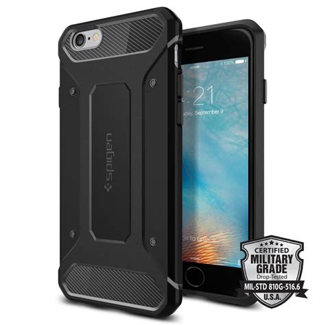 Iphone 6 Other Box Spigen Black Carbon Cover Silikon iphone 6s rugged armor spigen inc