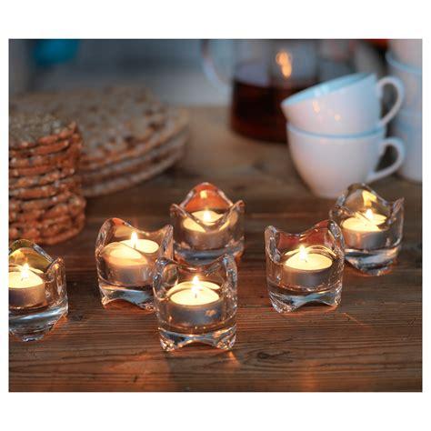 clear tea light holders v 196 snas tealight holder clear glass 6 cm ikea