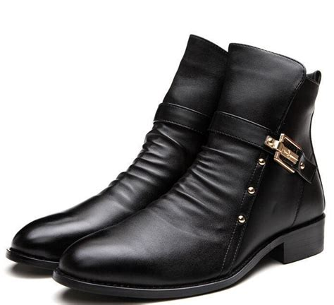 mens dress boots fashion mens fashion zip formal dress pointed toe ankle boots