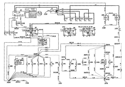 volvo 850 1994 wiring diagrams instrument panel l