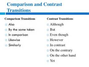 How To Organize A Compare And Contrast Essay eng 103 how to write compare and contrast essays