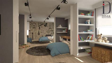 habitaciones separadas habitaci 243 n juvenil para 3 hermanos espacio diafano con posibilidad de dividirlo en 3