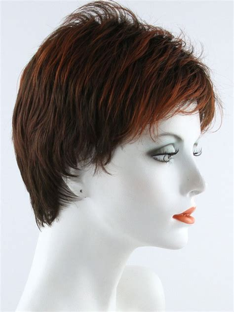 pixie cuts cherry brown penelope by envy wigs capless short pixie cut with bangs