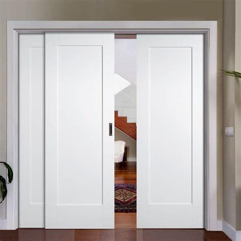 Wardrobe Closet Sliding Door - easi slide op2 white shaker pattern 10 style panel sliding