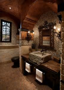 delightful Aarons Bedroom Set #3: Stone-Wall-Bathroom-02-1-Kindesign.jpg