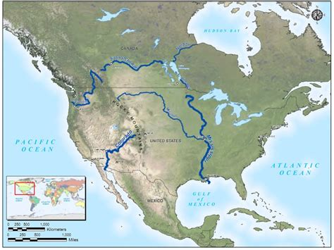 map of usa rivers america river map roundtripticket me