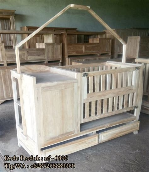 Tempat Tidur Bayi Yang Bisa Diayun tempat tidur bayi kayu jati ready stock nirwana