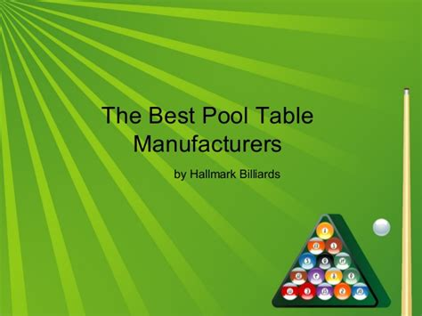 the best pool table manufacturers